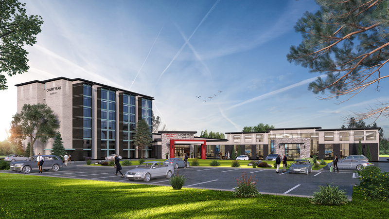 Oshawa, ON - Marriott Courtyard & Towne Place Suites combination hotel site